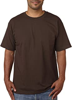 product image for Bayside Men's American Pride Crewneck T-Shirt, Chocolate, Small