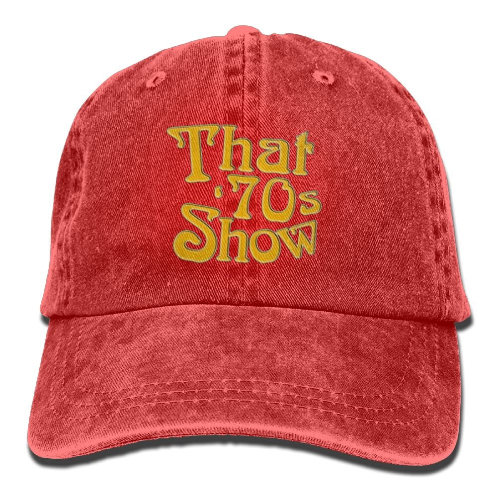 XingHHuo That is 70s Show 2018 Adjustable Washed Cap Cowboy Baseball Hat Red
