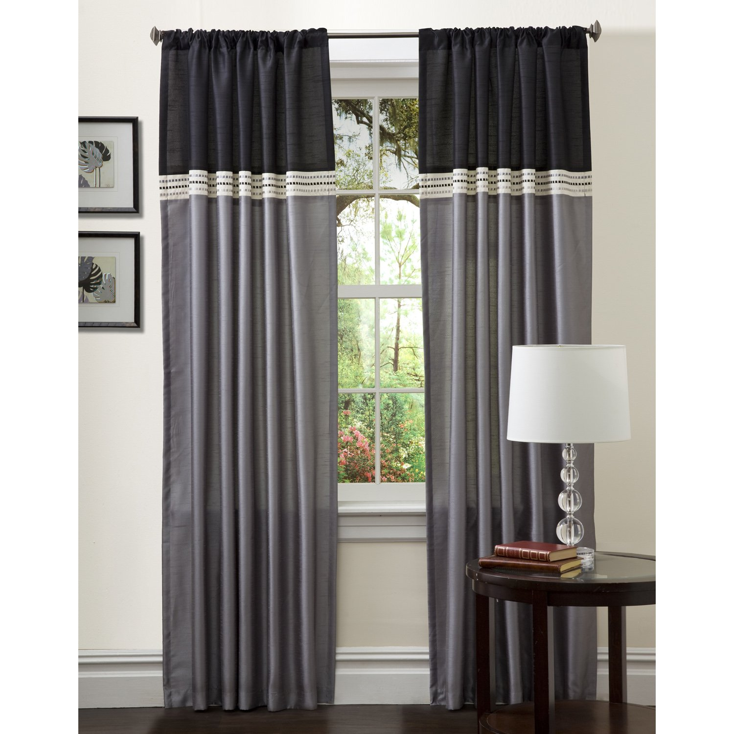 single faux home kitchen espresso drapes curtain com by panel eclipse dp silk fresno window amazon inch blackout