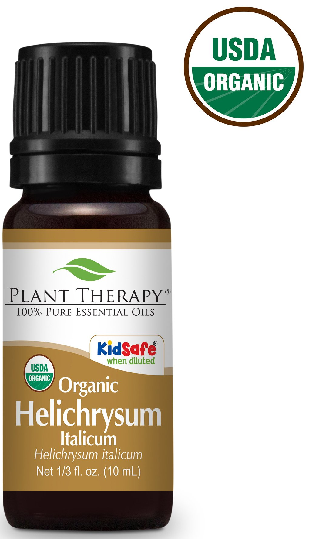 Plant Therapy Helichrysum Italicum Organic Essential Oil 10 mL (1/3 oz) 100% Pure, Undiluted, Therapeutic Grade