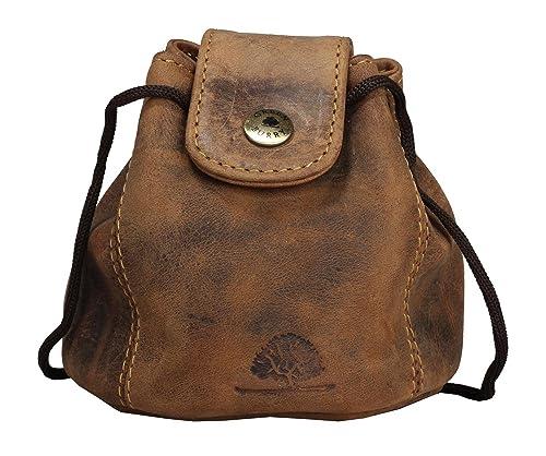5a3c77b0b3 Greenburry Vintage in pelle sacchetto XL Marrone Gioielli - Vera Pelle -  tabacco tasche: Amazon.it: Scarpe e borse