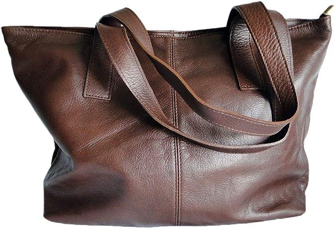 Sac cabas cuir marron cognac NOEMIE | Sac porté epaule cuir femme | Grand  sac main cuir femme | Fourre tout sac cuir Femme | Sac shopping cuir | Sac  ...