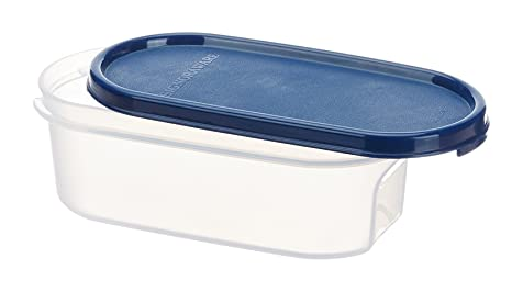 Signoraware Modular Oval No.1 Plastic Container, 500ml, Mod Blue Jars   Containers