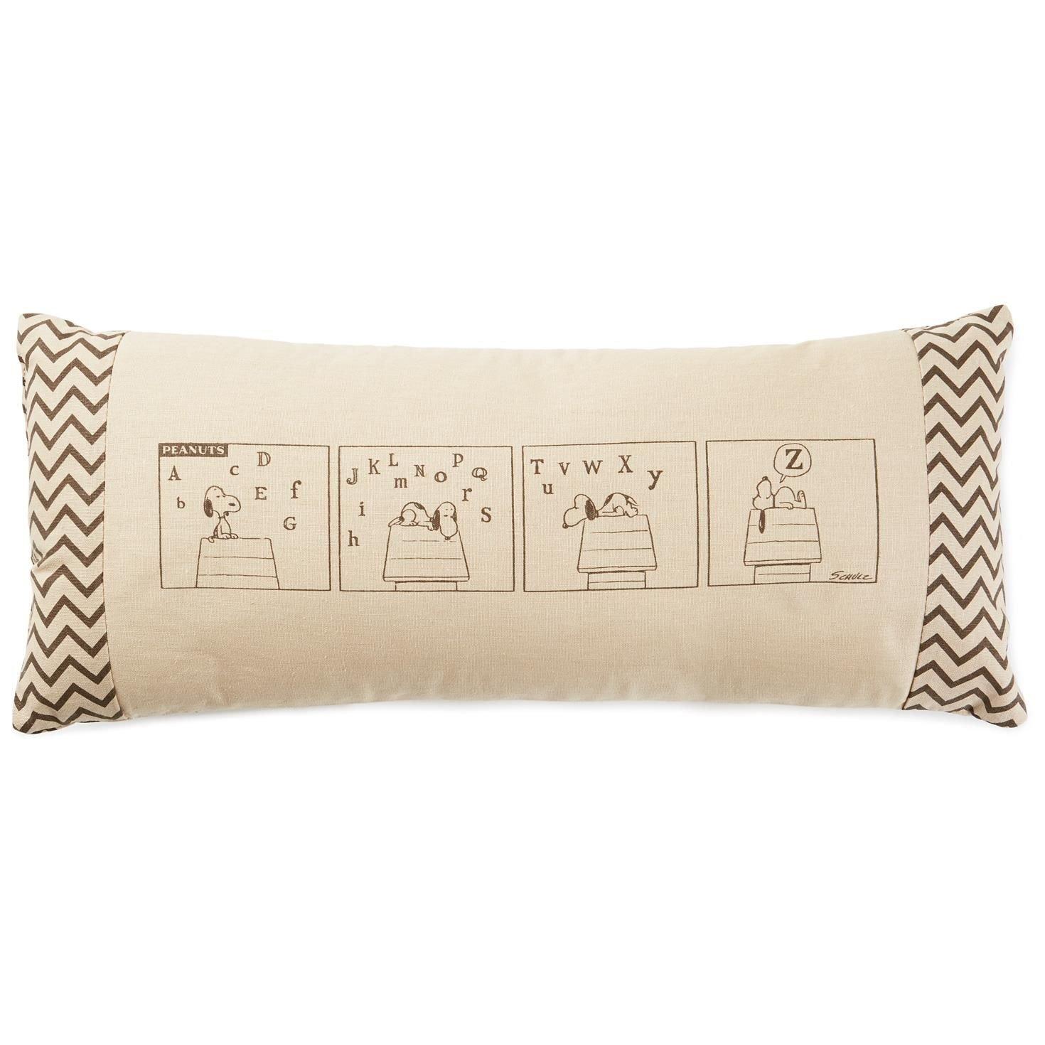 Hallmark Peanuts Snoopy Sleeping Rectangle Pillow, 18x8 Pillows & Blankets Movies & TV