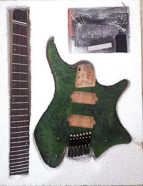 Guitarra sin cabeza, traste ventilado, 7 cuerdas, semiacabado ...