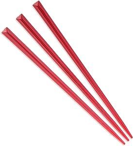 """BambooMN Brand - Triangular Prism Plastic Pick 3.5"""" (9cm) - 300 pcs - Red"""