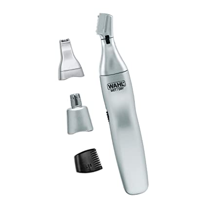 Wahl Ear, Nose, & Brow Trimmer Clipper – Painless Eyebrow & Facial Hair Trimmer for Men & Women, Battery Included Electric Groomer – Model 5545-400