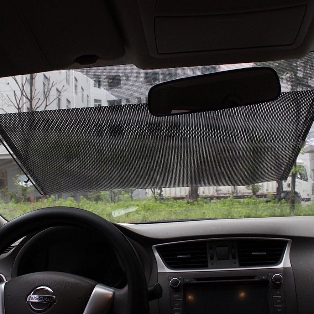 Clispeed Tendine Parasole per Auto Avvolgibili con Ventose 40x60cm Puntino Nero