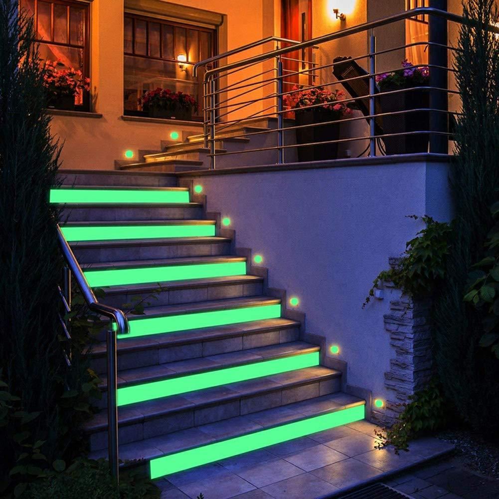 Sicherheitsanzeige Fluorescent Tape 1 Roll Night Flucht Warnzeichen Glow Aufkleber V-f/örmiges Pfeilband