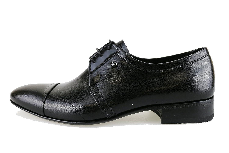 FABI Oxford-shoes / Elegant Man Black Leather AH859 (7 US / 40 EU)