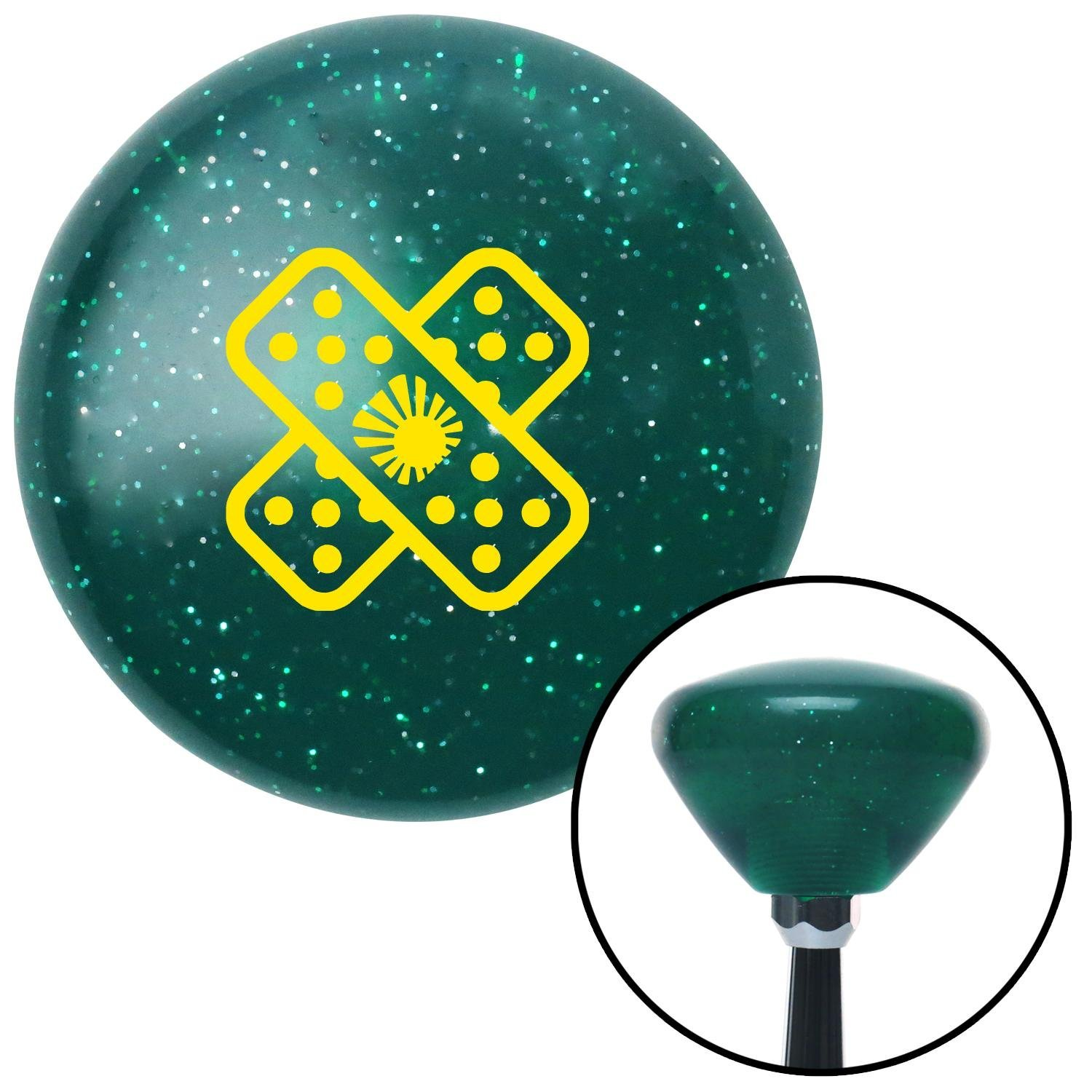 Black Kings Crown American Shifter 113142 Red Stripe Shift Knob with M16 x 1.5 Insert