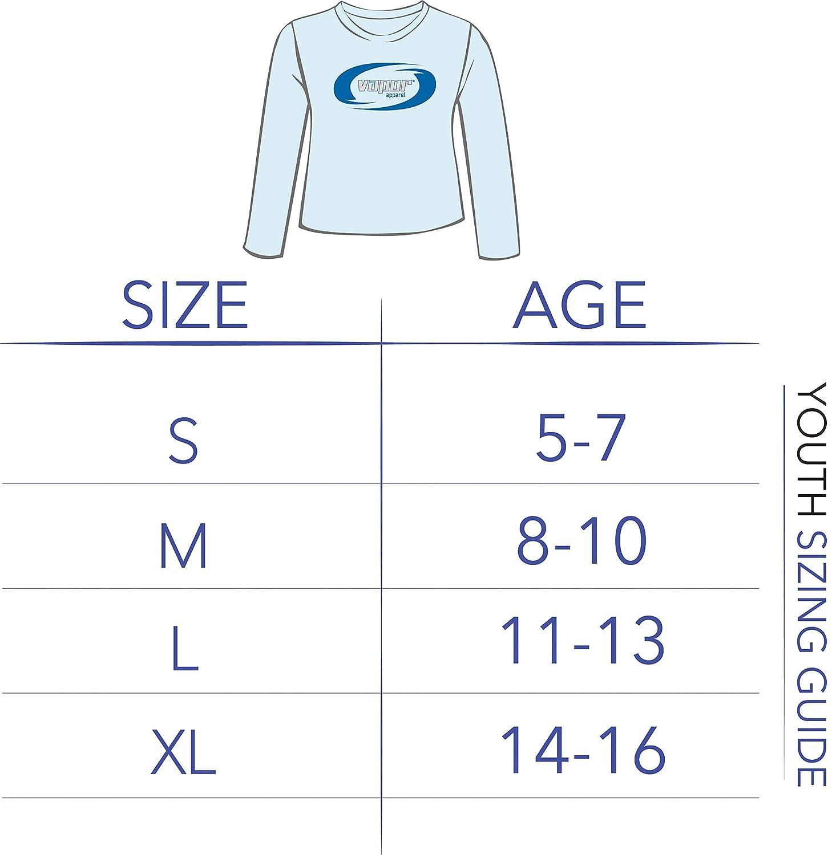 UV Sun Protection Performance Long Sleeve T-Shirt Vapor Apparel Youth UPF 50