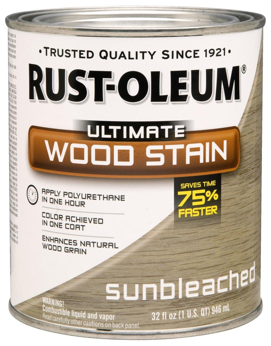 Rustoleum Driftwood Stain Amazoncom Rust Oleum 260155 Ultimate Wood Stain Quart