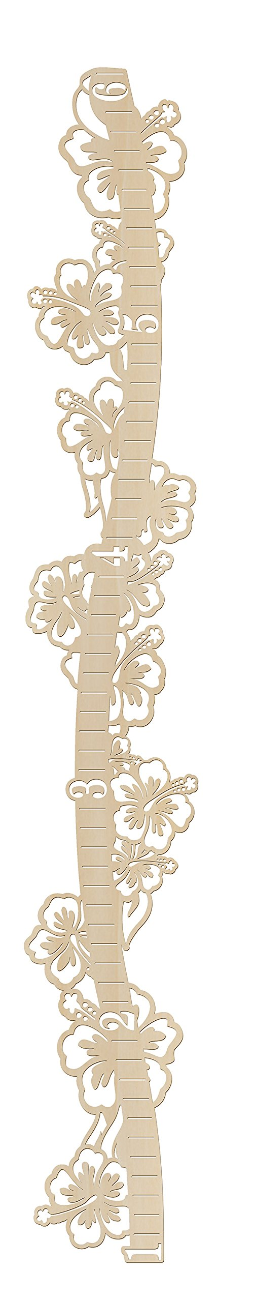DIY Wooden Hibiscus Growth Chart