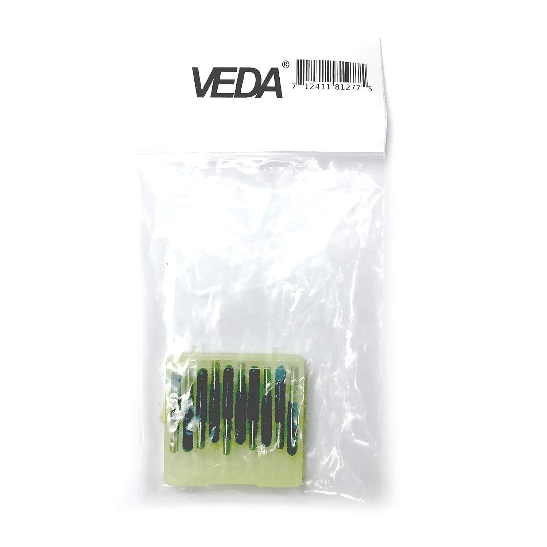 paquete de 10 20 grados VEDA Brocas de fresado de carburo de plata PCB 0,1 mm parte inferior redonda herramienta de enrutador CNC