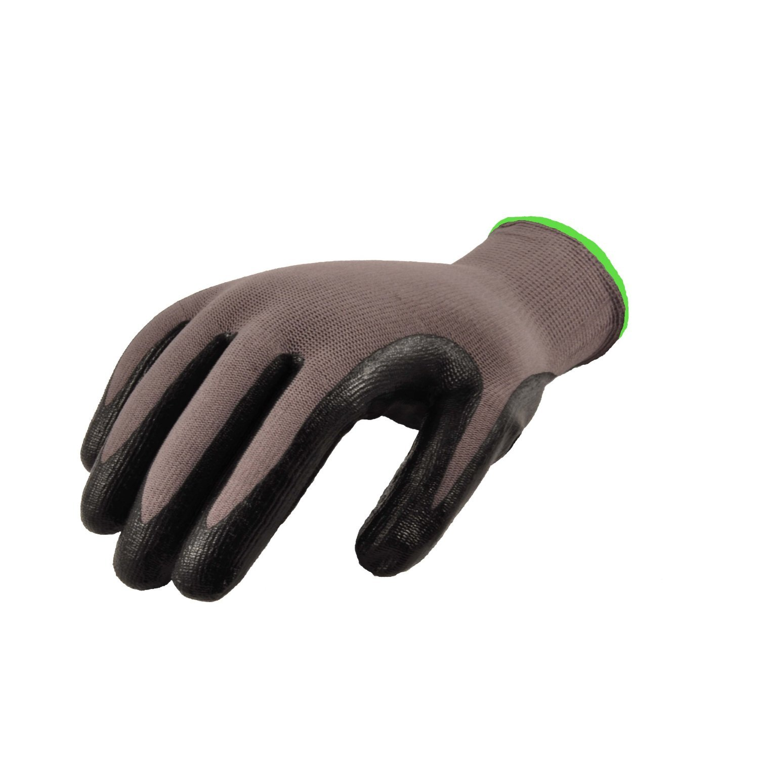 GF Gloves 1519XL-300 Seamless Knit Nylon Nitrile Form Coated Work Gloves, Black, X-Large (Pack of 300)