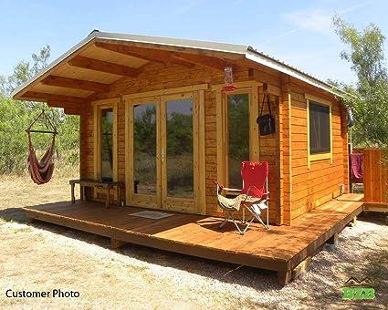 BZB Kit de cabina de troncos modelo Sunset: Amazon.es: Bricolaje y herramientas