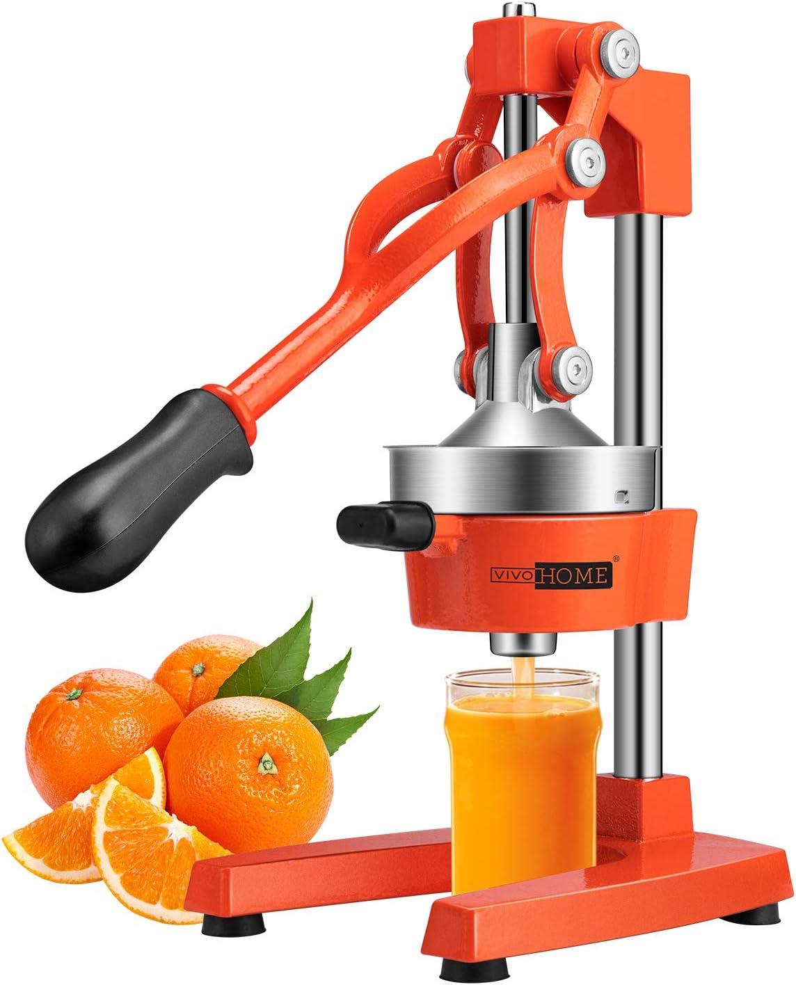 VIVOHOME Heavy Duty Commercial Manual Hand Press Citrus Orange Lemon Juicer Squeezer Machine FDA Approved