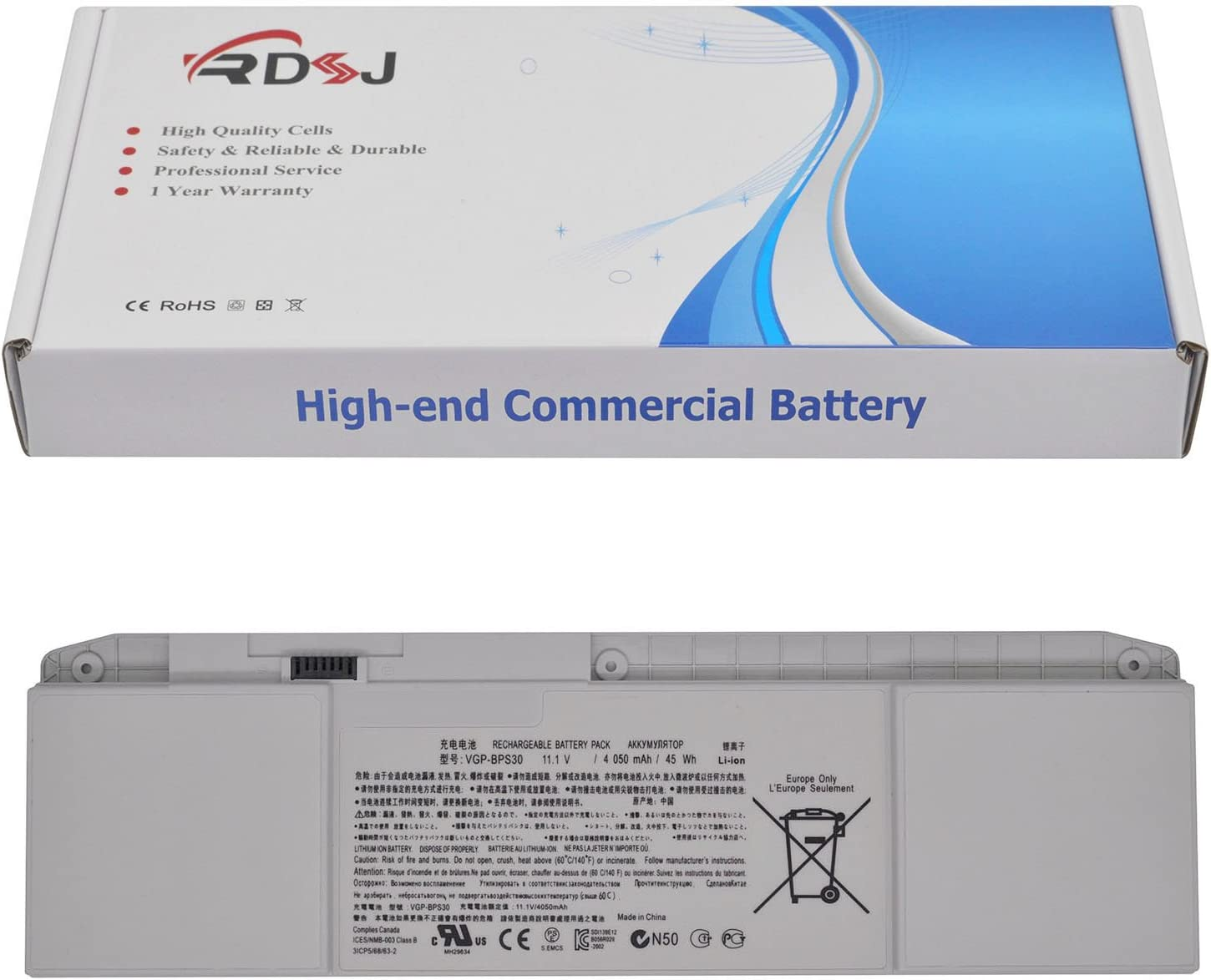 VGP-BPS30 Laptop Battery for Sony VAIO T11 T13 VAIO SVT111 SVT131 SVT1112 SVT1311 SVT1312 Series SVT131A11L SVT131B11M SVT131A11M VGP-BPS30A 11.1V 45Wh