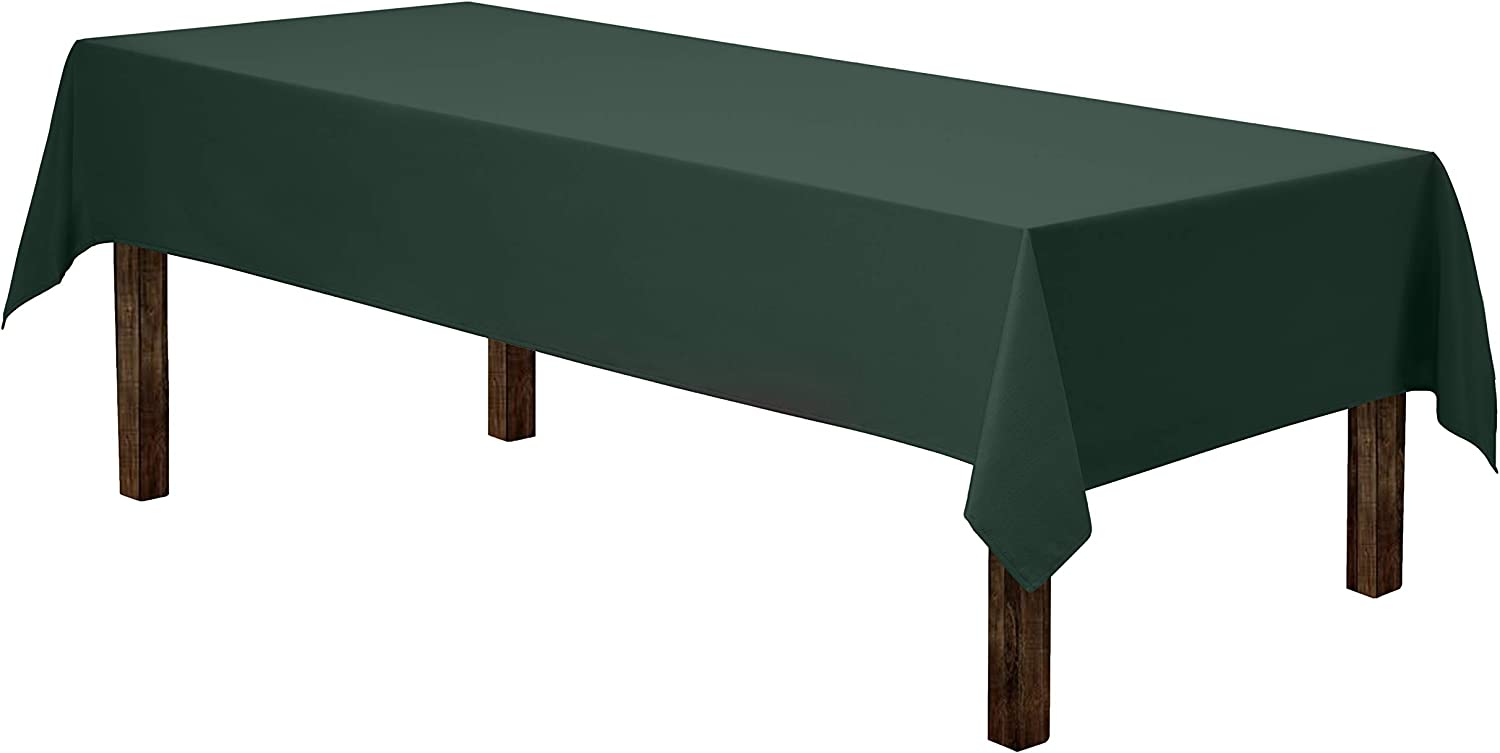 "Gee Di Moda Rectangle Tablecloth - 60 x 102"" Inch - Hunter Green Rectangular Table Cloth for 6 Foot Table in Washable Polyester - Great for Buffet Table, Parties, Holiday Dinner, Wedding & More"