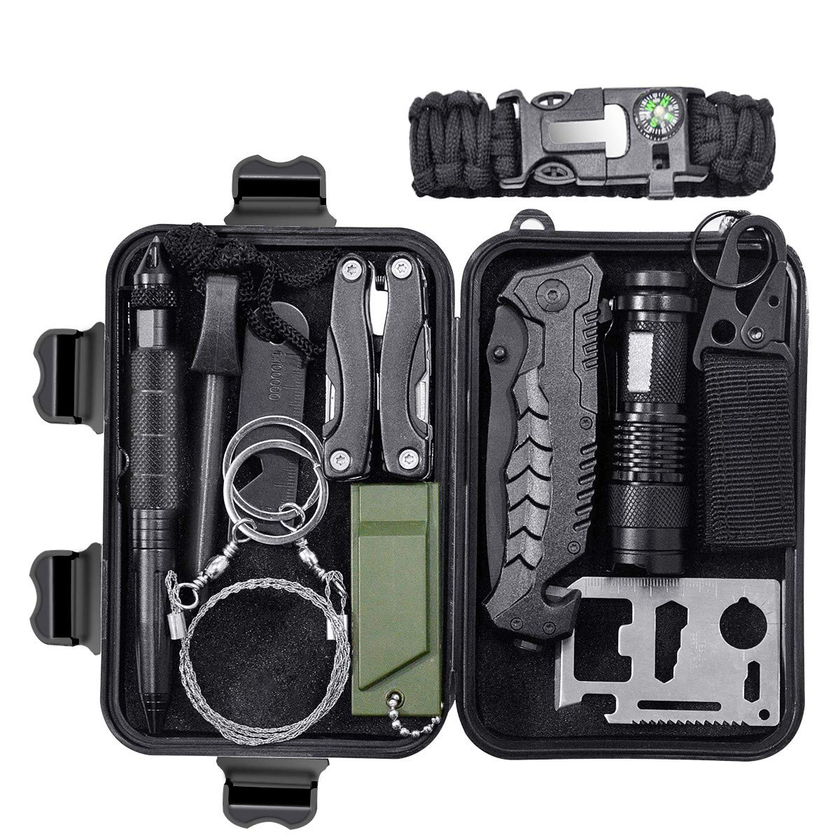 Military Shockproof Survival Kit Case Waterproof Airtight Camping Travel Gear Carry Emergency Box Online Shop Camping & Hiking