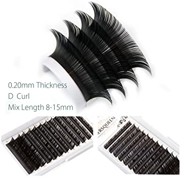 656635c8692 Individual Classic Eyelash Extensions Mix Length Salon Tray .20 c Curl d Curl  Natural Looking