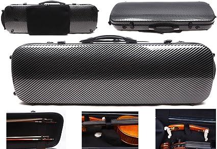 Funda para violín 4/4 de fibra de carbono de fibra de vidrio de fibra de carbono, resistente y ligera, bolsa de partituras para partituras: Amazon.es: Instrumentos musicales