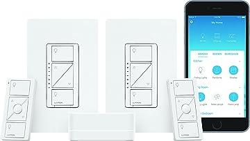 Lutron Caseta Wireless Smart Lighting 2 Dimmer Switch Starter Kit, P-BDG-PKG2W