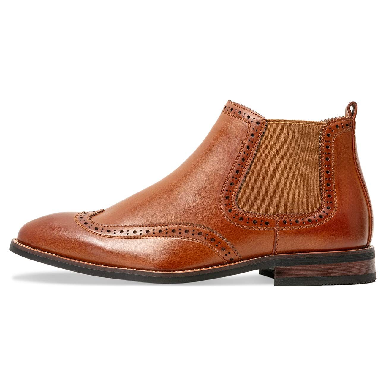 WULFUL Mens Leather Lined Oxfords Chelsea Ankle Boots