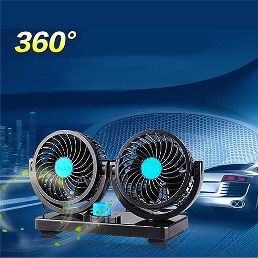 YCRD Ventilador De Techo Doble A Bordo 12V/24V 360 ° Ventilador De ...