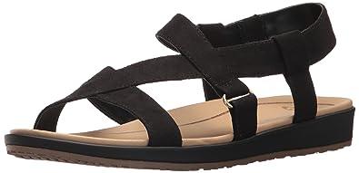 d04df6e951f449 Dr. Scholl s Shoes Women s Preview Sandal Black Microfiber ...