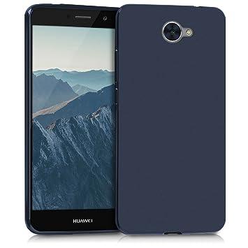 kwmobile Funda para Huawei Y7 (2017) - Carcasa para móvil en TPU Silicona - Protector Trasero en Azul Oscuro Mate