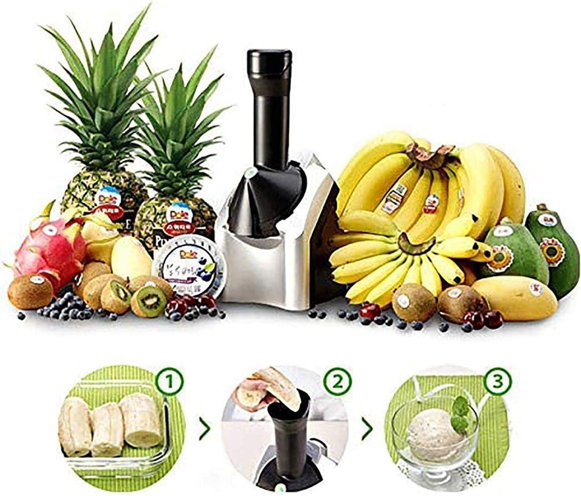 Vegan Ice Cream Home Fruit Soft Serve Ice Cream Maker Soft Serve Frozen Yogurt Healthy Fruit Sorbet Sherbet Machine Dairy Free Simple One Push Operation