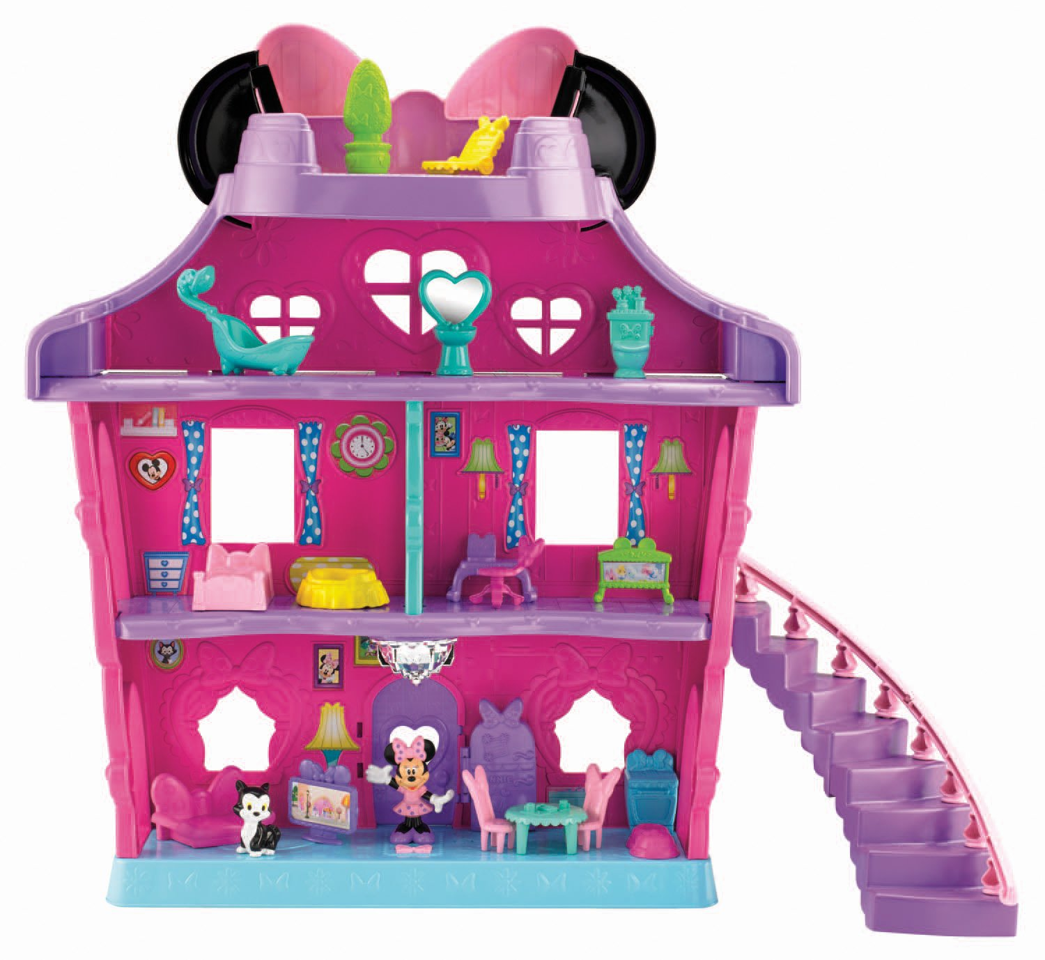prodigious New Minnie Mouse Toys Part - 4: Amazon.com: Fisher-Price Minnie Mouse - Minnieu0027s Bow Sweet Home: Toys u0026  Games