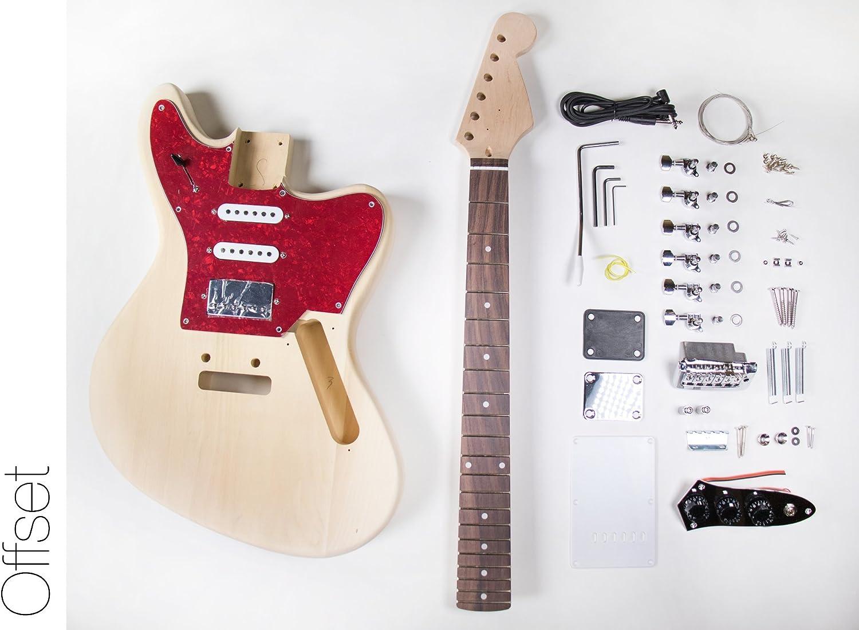 DIY Kit de guitarra eléctrica? Jaguar Estilo construir su propio ...