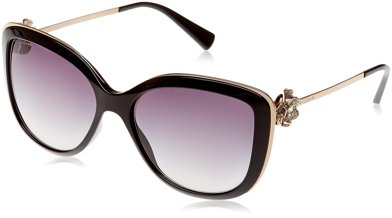 Bulgari 0BV6094B 20148G 57 Gafas de sol, Negro (Black/Gradient), Unisex-Adulto