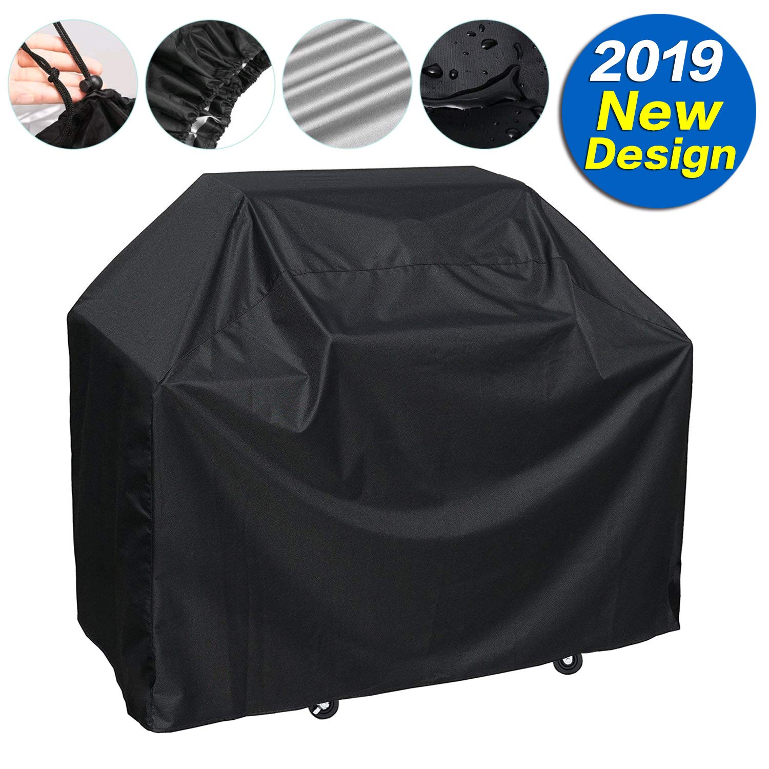 SARCCH Grill Cover,(58'' Black) BBQ Special Grill Cover,Waterproof and  UV Resistant Material, Durable and Convenient,Fits Grills of Weber Char-Broil Nexgrill Brinkmann and More by SARCCH