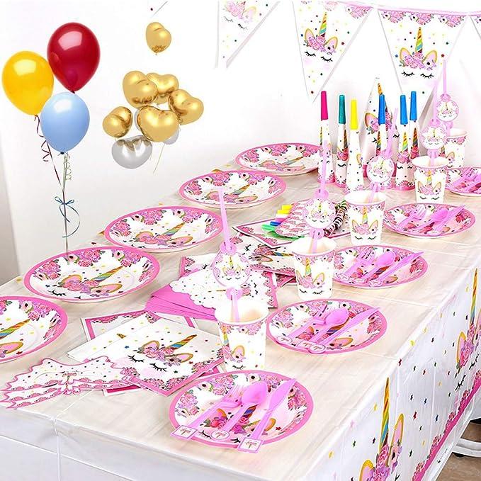 Rainbow unicorn tamponnant Personnalisé Bannière 160GSM Fête Anniversaire Enfants Filles Garçon