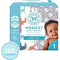 The Honest Company 160 Count Super Club Box Size 1 Diapers with TrueAbsorb Technology