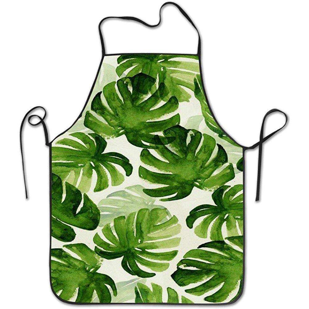 バナナツリー葉レディース快適なキッチンエプロン、Perfect Baking、料理用、クラフト用   B07DHCTV3Z