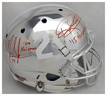 6b5fcf3c6 Image Unavailable. Image not available for. Color  Derrick Henry   Mark  Ingram Autographed Signed Schutt Chrome Alabama Crimson Tide ...