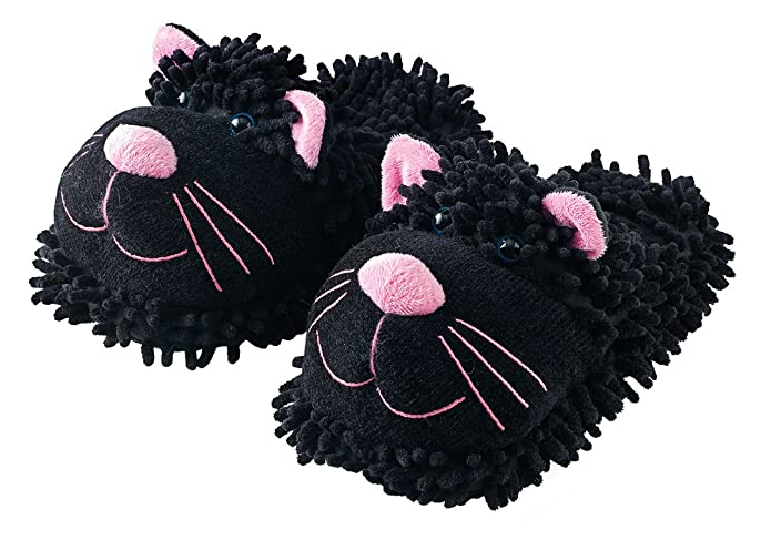 Aroma Home Fuzzy Friends Cat Slippers