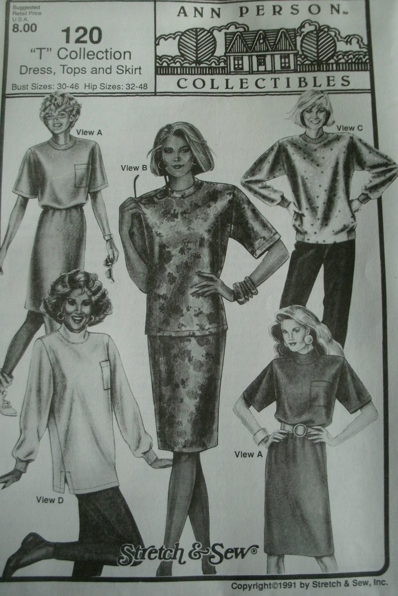 Amazon.com: Ann Person Collectibles Stretch & Sew Pattern 120 ~ \