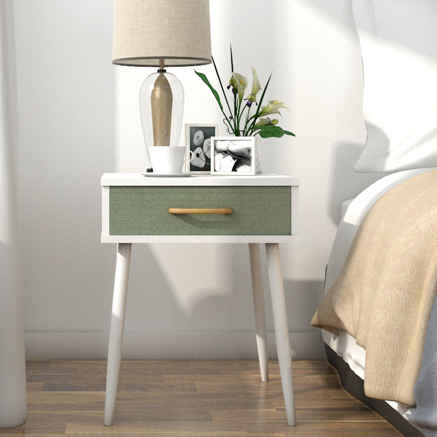 end table BR (1 tier with one drawer) Lifewit