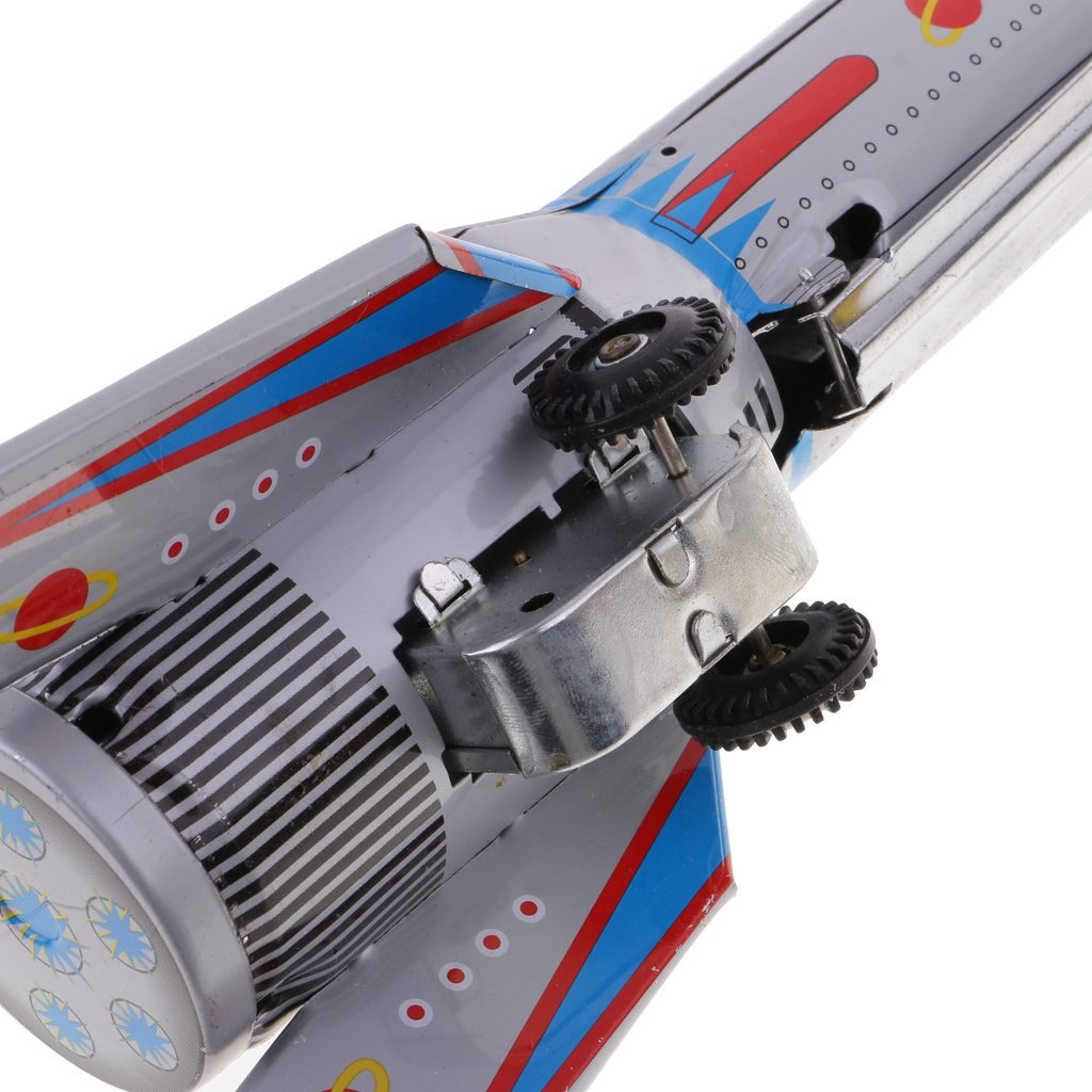 Jili Online Friction Driven Tin Toy Rocket Ship Space Toy Sky Express Collectible Gift