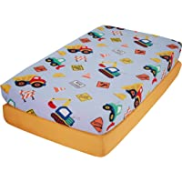 Everyday Kids 2 Pack Fitted Boys Crib Sheet, 100% Soft Microfiber, Breathable and Hypoallergenic Baby Sheet, Fits…