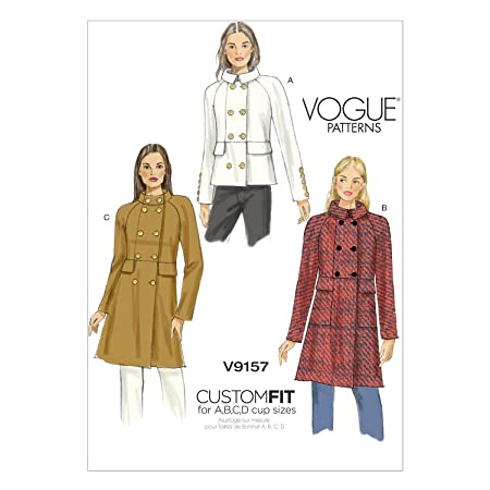 Vogue Patterns 9157 E5 Sizes 14-22 Misses Coat Sewing Pattern, Multi ...
