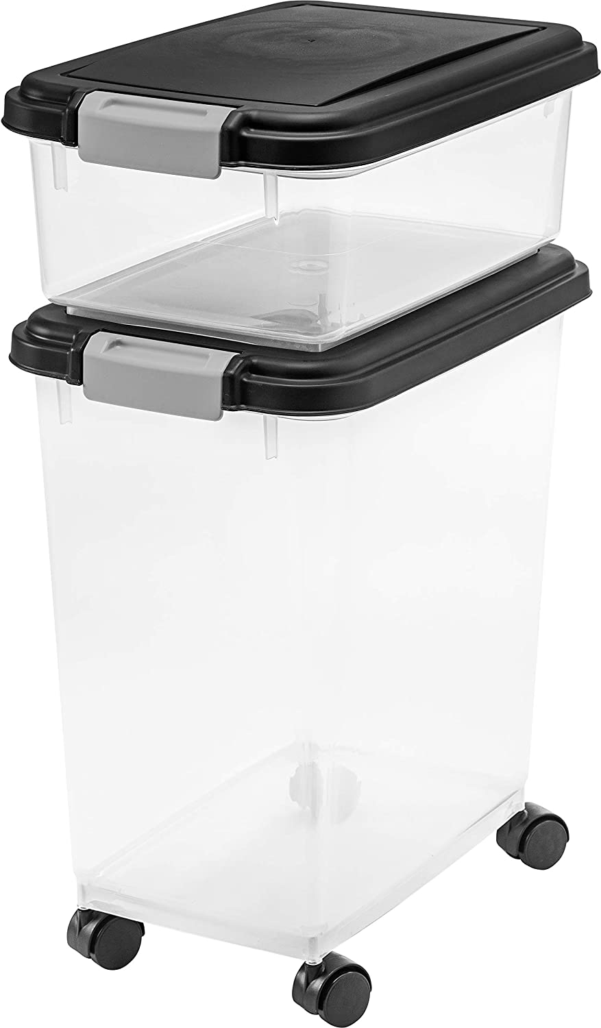 IRIS USA, Inc. Airtight Pet Food and Treat Storage Container Combo, Gray