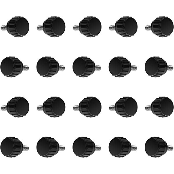 10pcs M4 x 15 x 15mm Black Clamping Knobs Handle for Machinery Lathe O4Z6