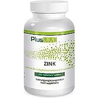 PlusVive - Zink tabletten - hoog gedoseerd: 25 mg zuiver zink van zink bisglycinaat per tablet - 365 veganistische…